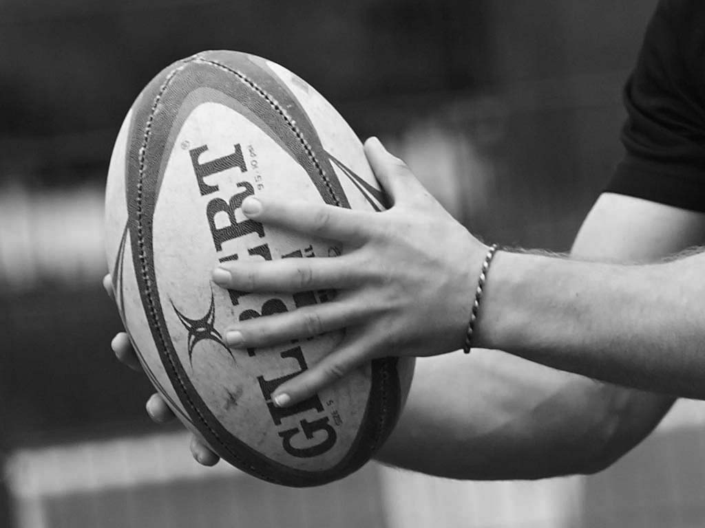 An SCL student training at a rugby academy run in partnership with rugby clubs.
